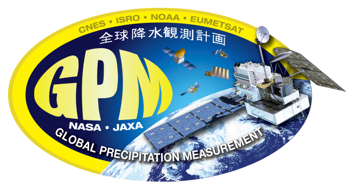 Graphic decal for the Global Precipitation Measurement Mission.