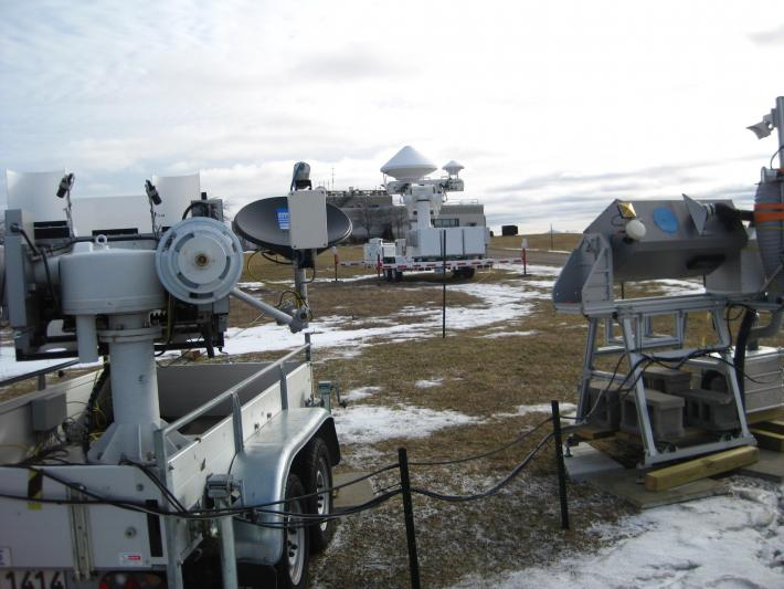 Various ground instruments at the CARE site