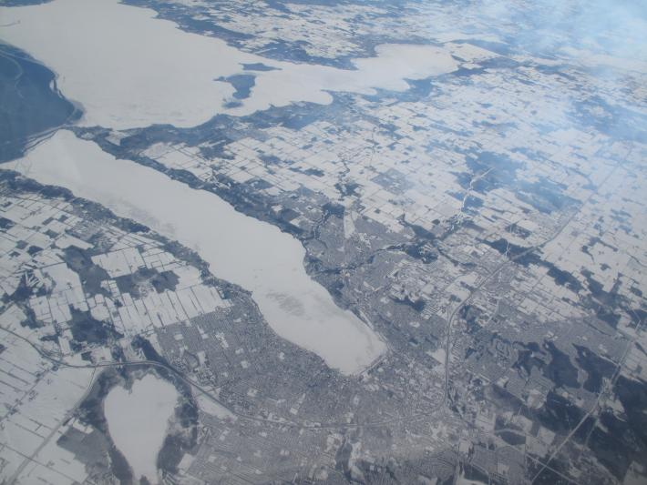 Flying over Ontario
