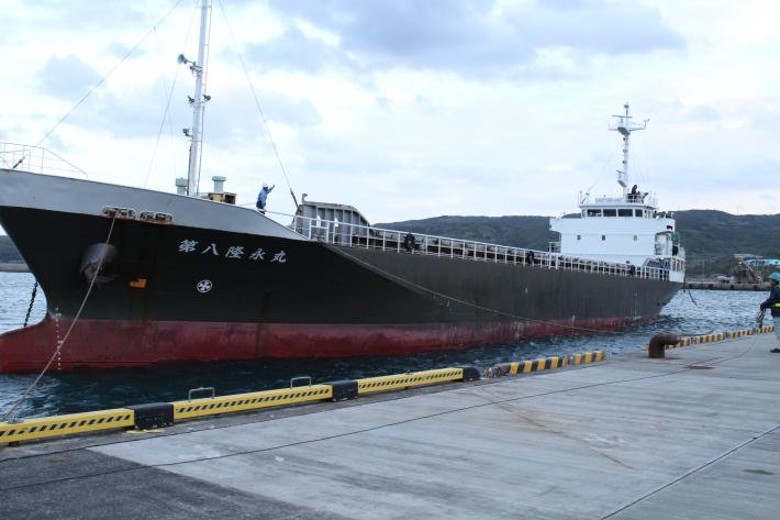 Barge transporting GPM Core Observatory to Tanegashima Island