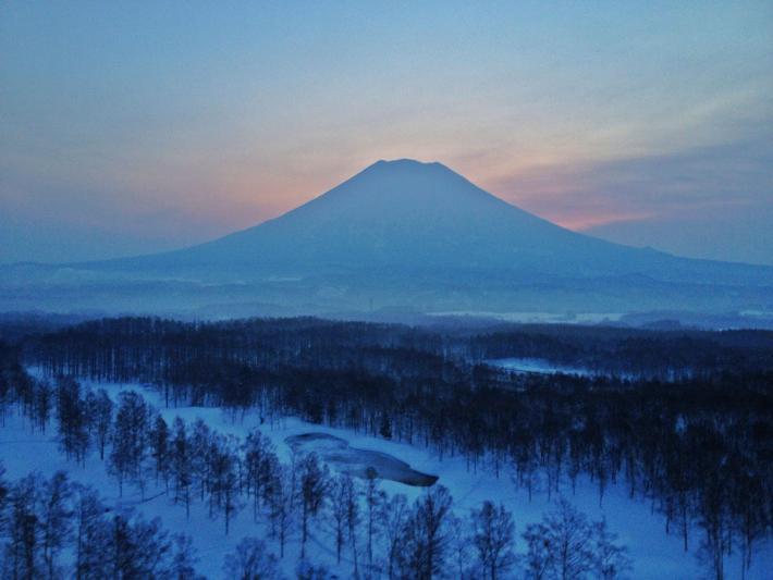 Sunrise on Mount Yotei, by Kristin