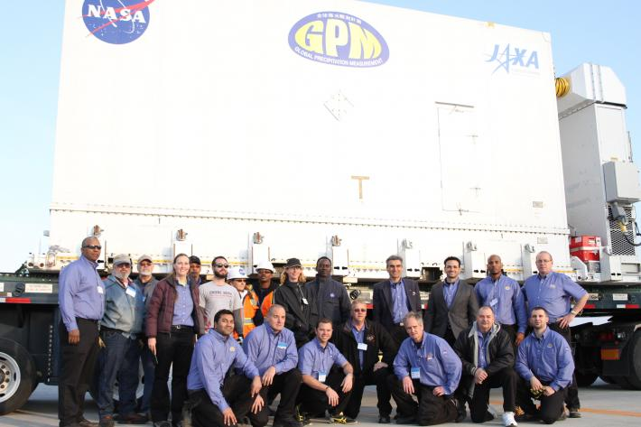 The NASA GPM transport team in Kitakyushu, Japan, Nov 24
