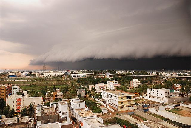 Stormfront approaching Bangalore India