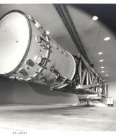 1960's black and white image of initial setup of the High Capacity Centrifuge