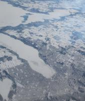 Flying over Barrie Ontario