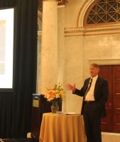 Dr. Piers Sellers speaking at the Dr. Arthur Hou Memorial Symposium