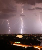 Three lightning bolts