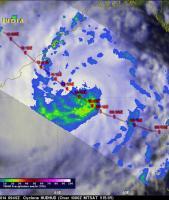 TRMM Sees Intensifying Cyclone Hudhud