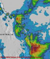 Measurements From Space Of Cyclone Marcia's Rainfall