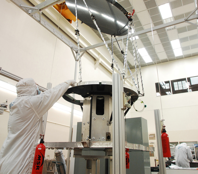 The GMI Instrument being constructed in a lab