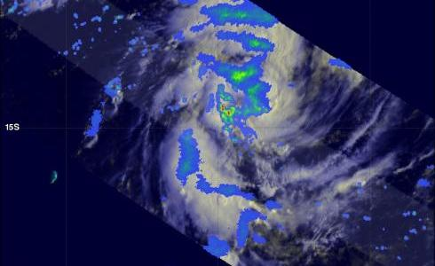 TRMM image of tropical cyclone 12s
