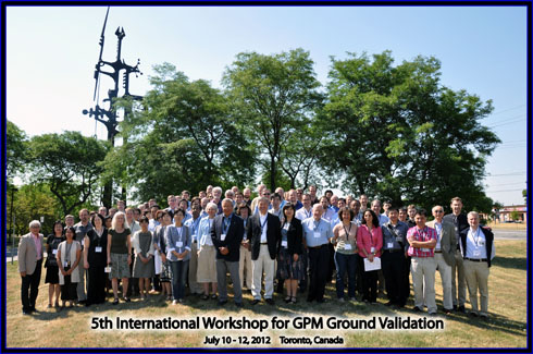 Group photo of attendees at the 5th International GPM Ground Validation Workshop in Ontario