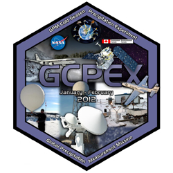 GCPEX logo showing various precipitation measurement instruments