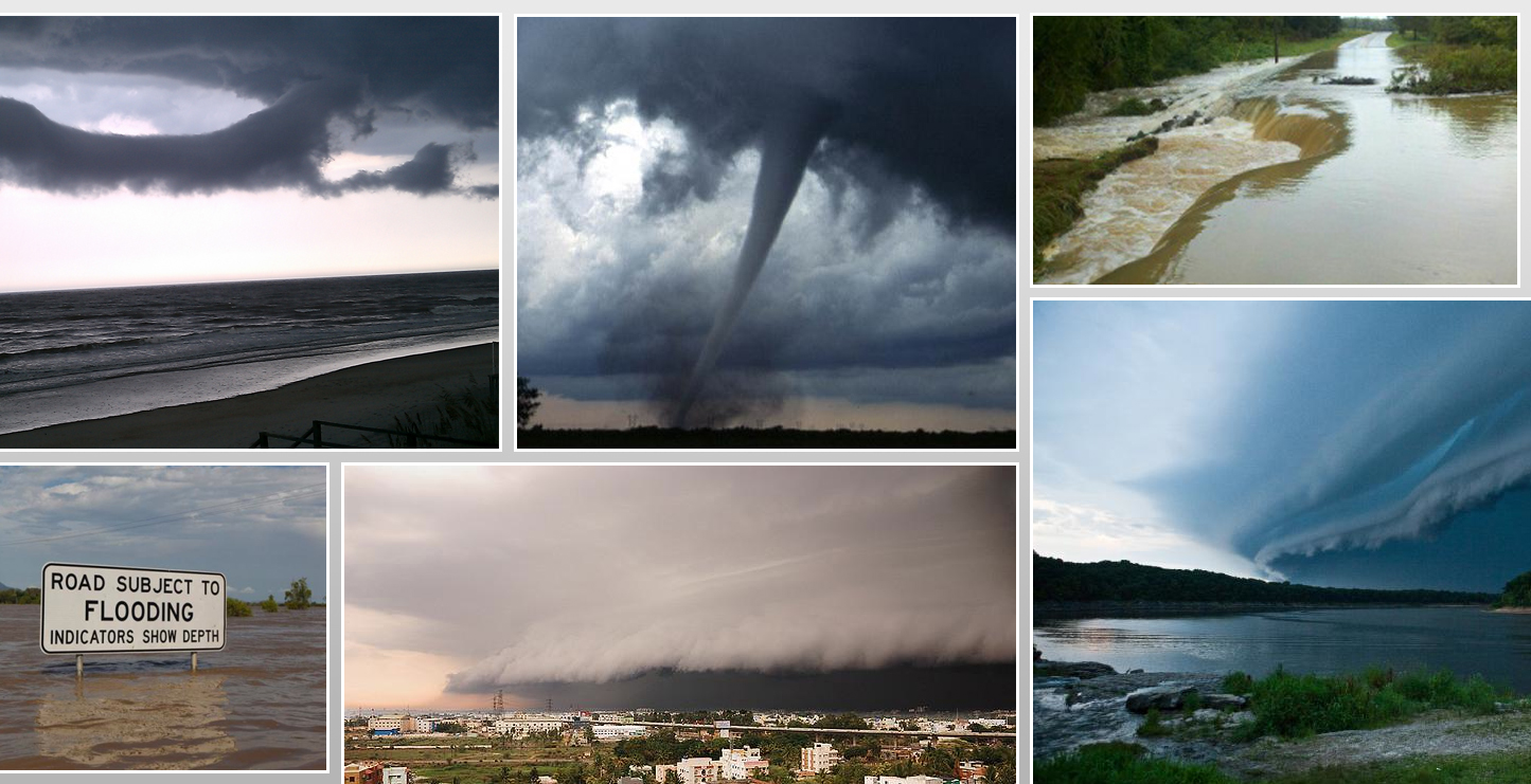 Mosaic of extreme weather photos