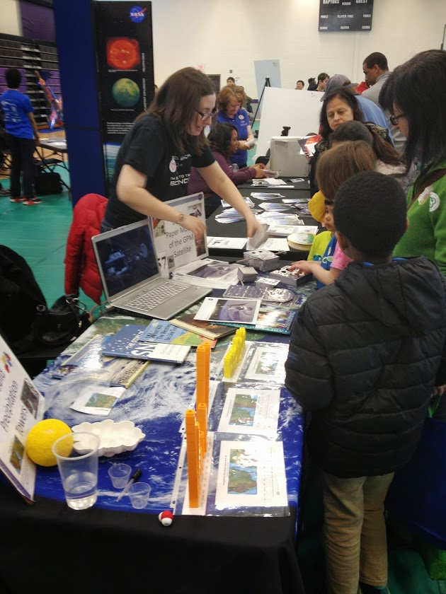 2013-14 Master Teacher Molly McMahon educating students about GPM at Rockville (Md.) Science Day.