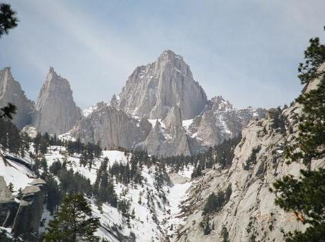 Mt. Whitney snowpack in the Sierra Nevada mountains