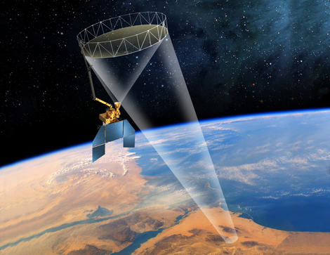 Artists rendering of the SMAP satellite