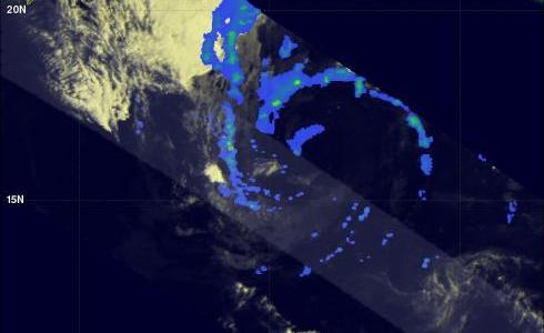 TRMM image of tropical storm in the Arabian sea