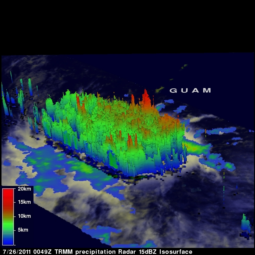 TRMM radar image of tropical storm 11W