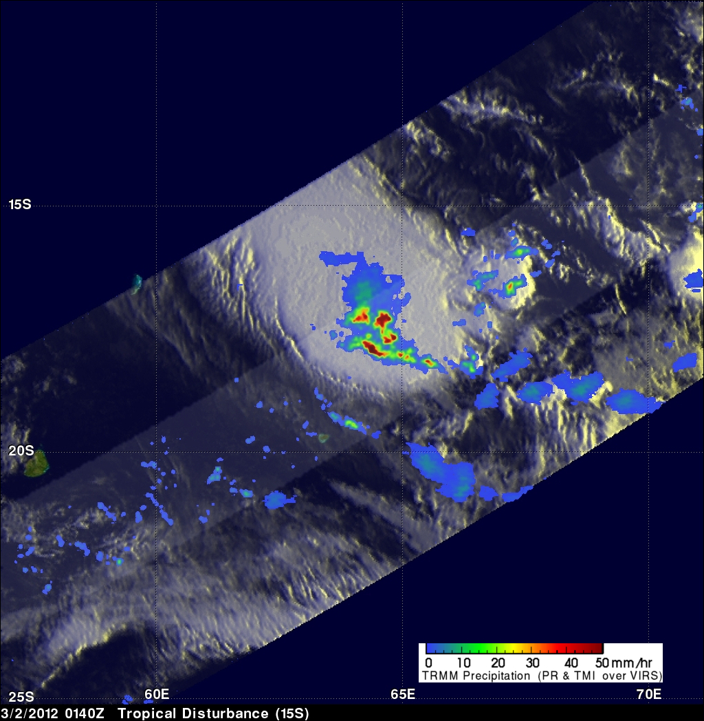 TRMM image of tropical cyclone 15S