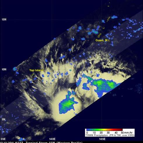 TRMM image of tropical cyclone 27W