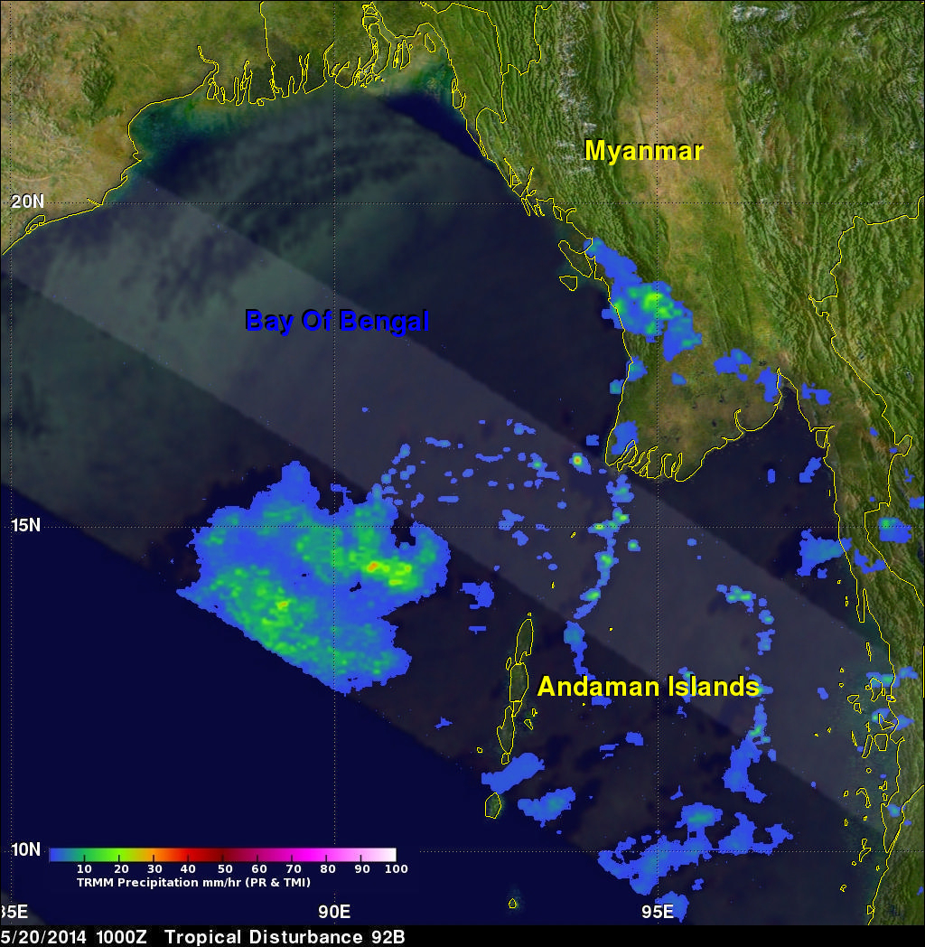 TRMM Sees Stormy Bay Of Bengal