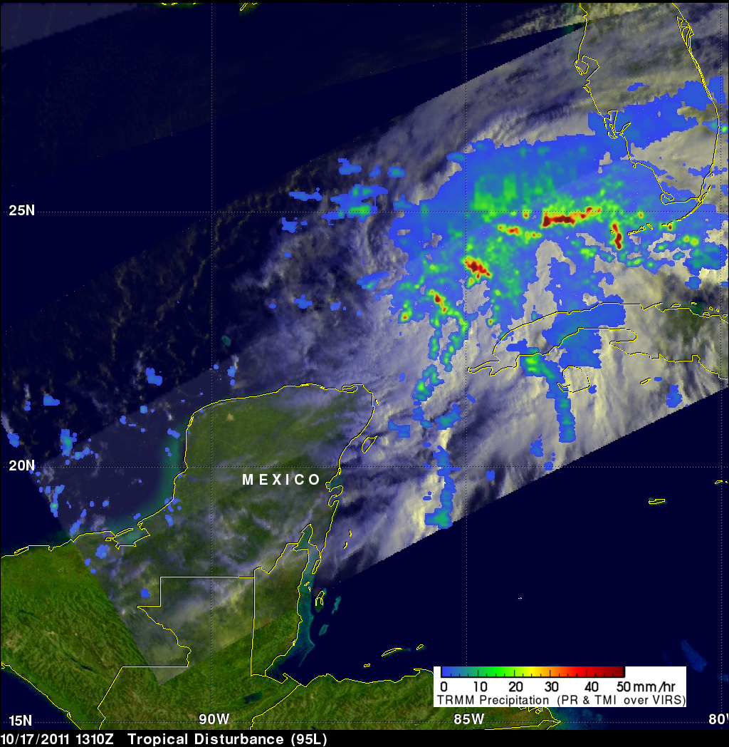 TRMM image of developing tropical cyclone near Mexico