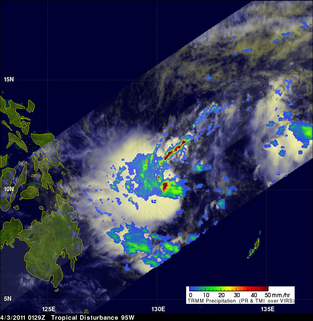 TRMM image of Tropical Cyclone near Philippines