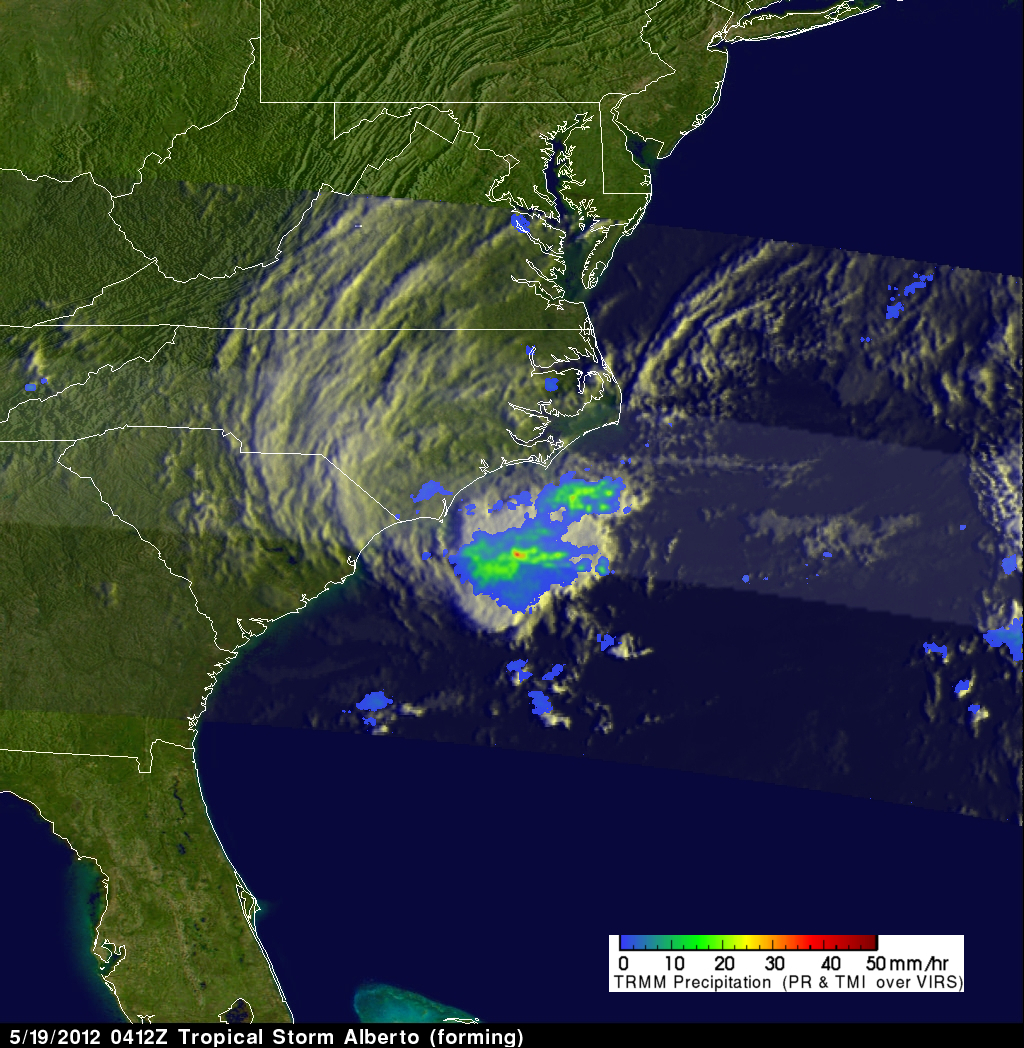 TRMM image of Atlantic Tropical Storm