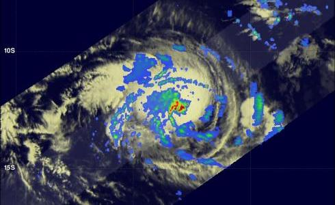 TRMM image of tropical storm Alenga