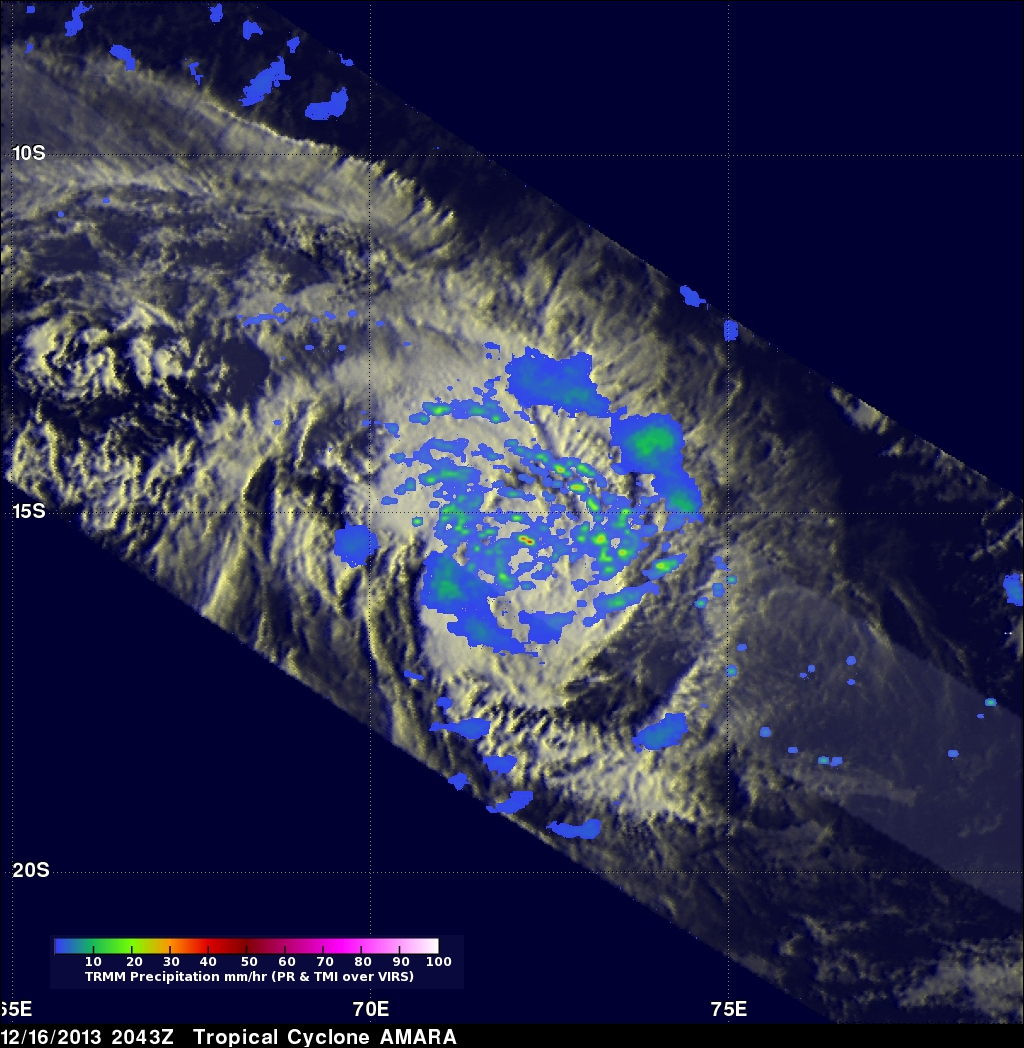 TRMM Sees Tropical Cyclone Amara Forming