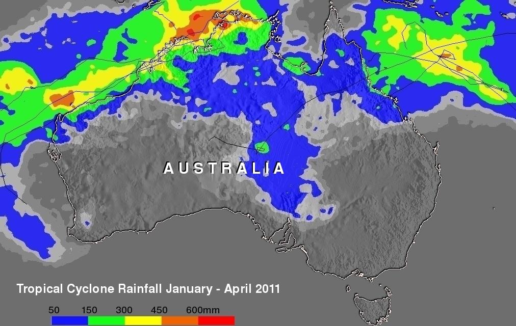 Tropical Cyclones over Australia