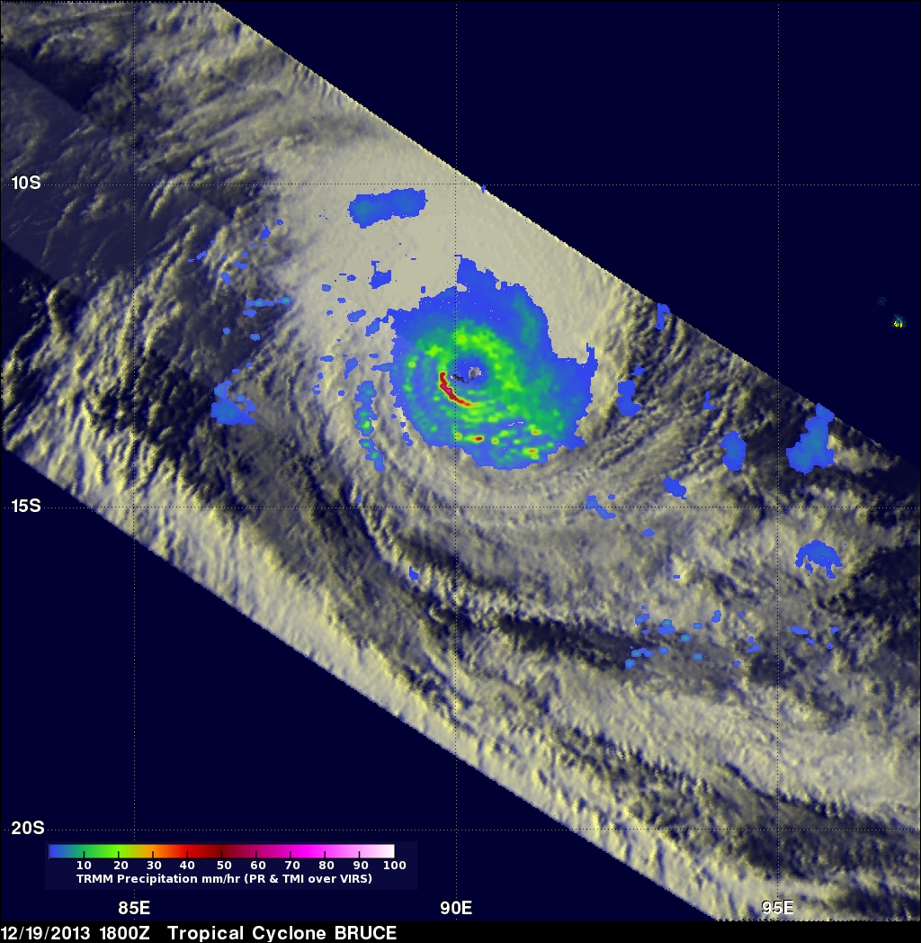 Intensifying Tropical Cyclone Bruce