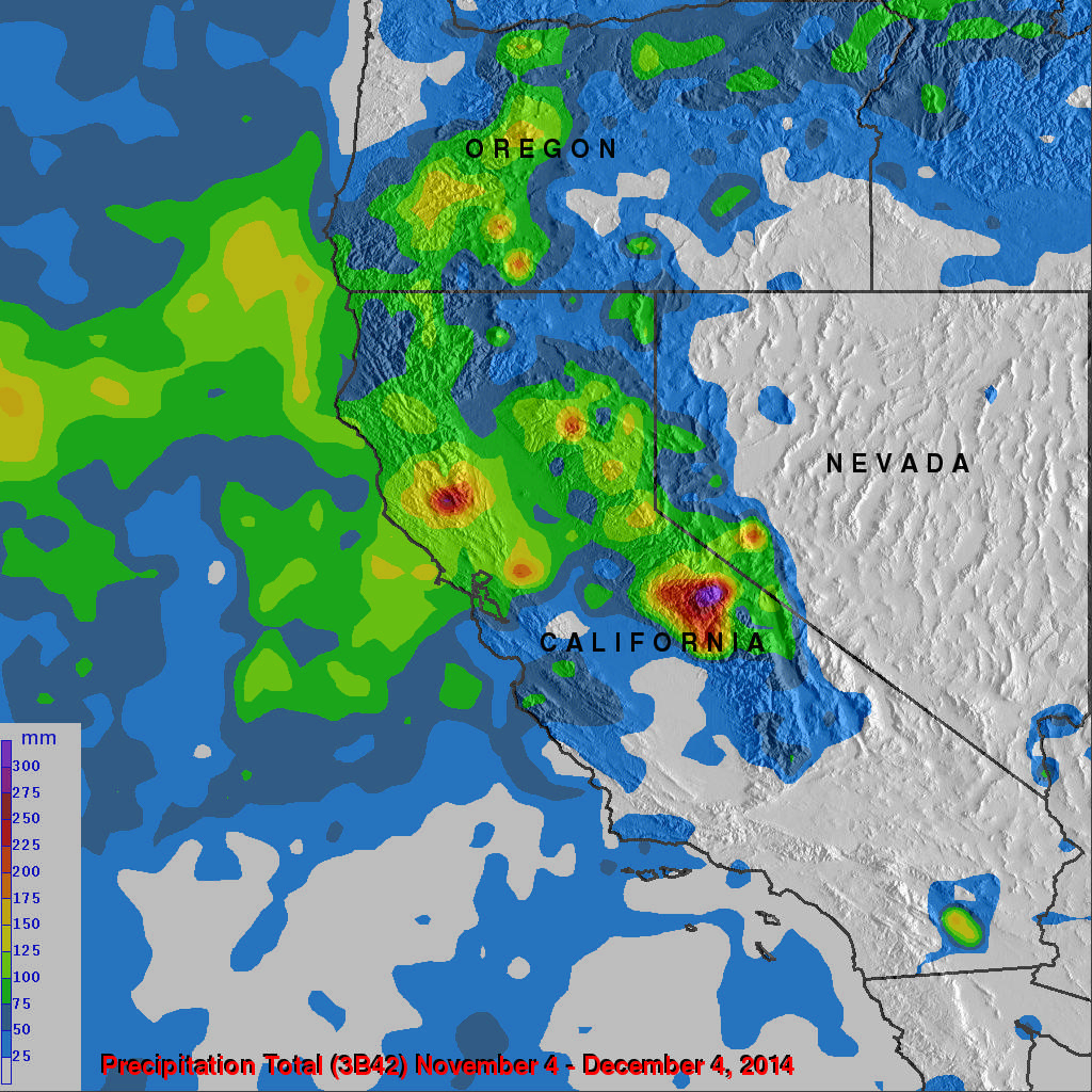 California's Rainfall Analyzed From Space