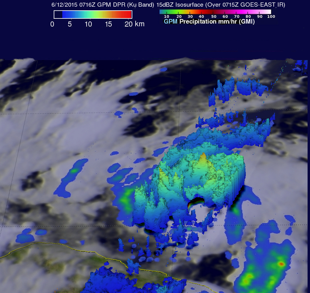 Tropical Storm Carlos Viewed By GPM