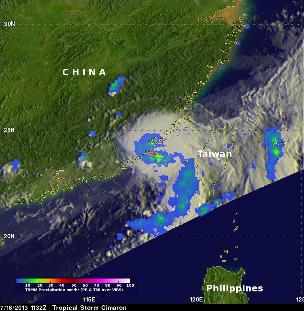 Tropical Storm Cimaron Brings Beneficial Rain To China
