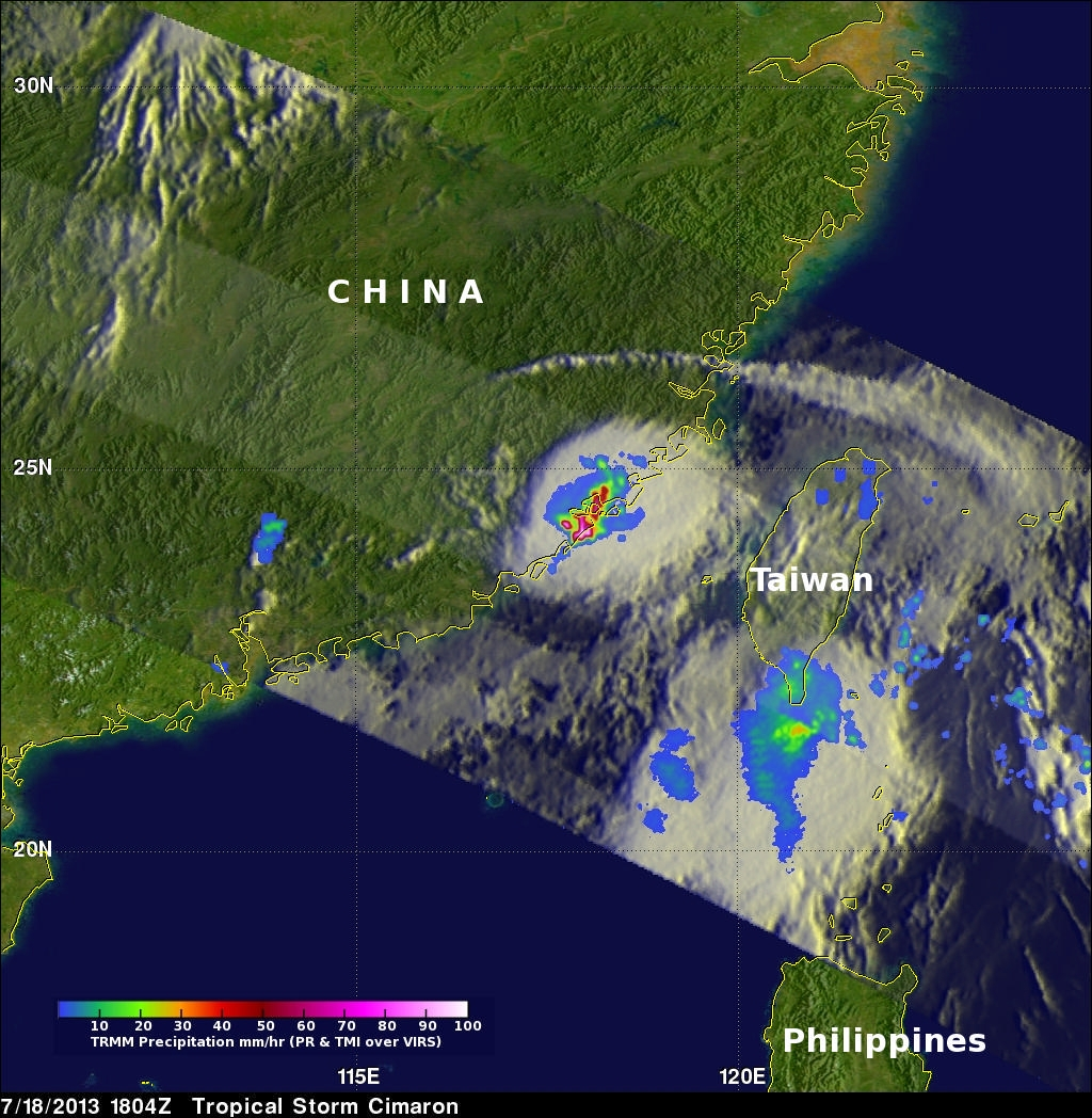 TRMM Sees Strong Tropical Storm Cimaron
