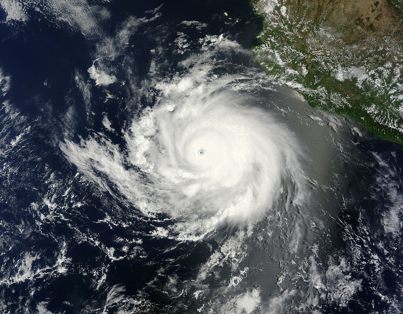 Hurricane Cristina in the Eastern Pacific