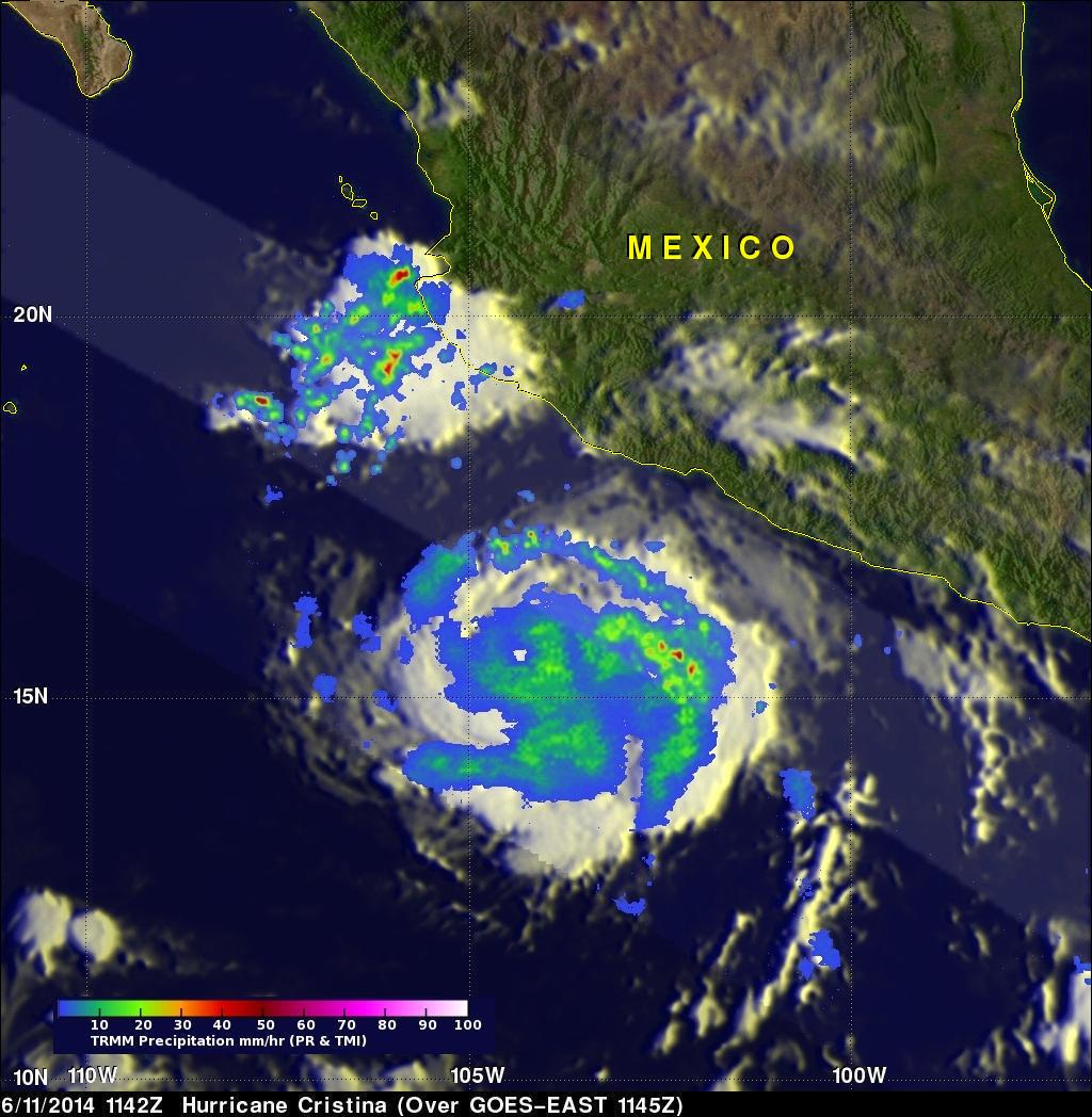 Cristina Now A Hurricane