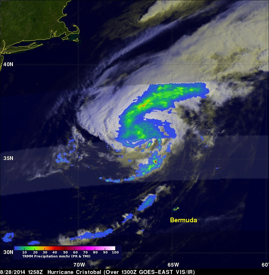 Cristobal Passes Northwest Of Bermuda