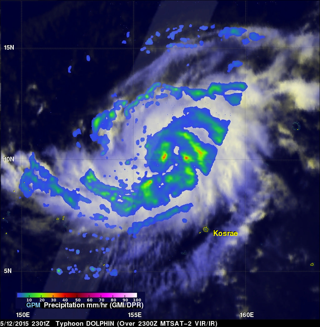 GPM Views Typhoon Dolphin Headed For Guam