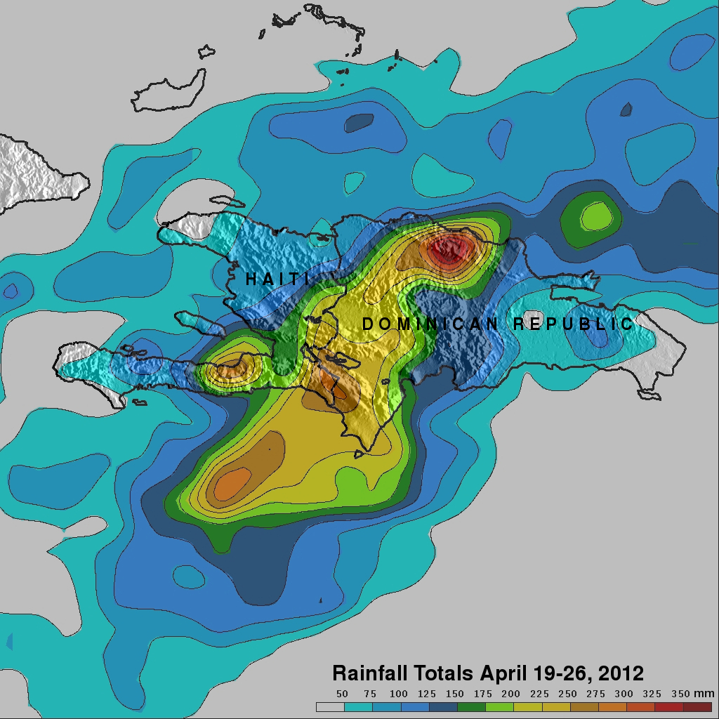 TRMM image of Caribbean floods