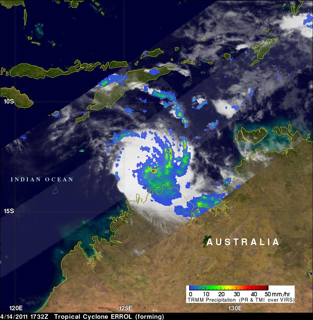 Visualization of Tropical Cyclone Errol