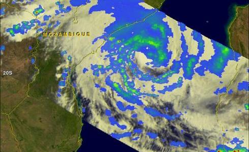 TRMM image of Tropical Cyclone Funso over Mozambique