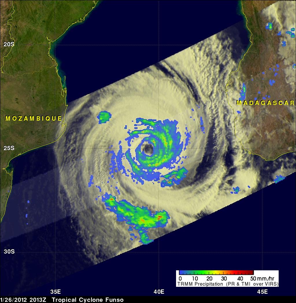 TRMM image of Tropical Cyclone Funso