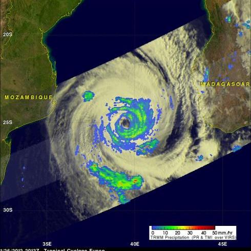 TRMM image of Tropical Cyclone Funso