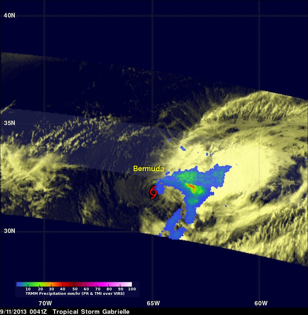 Gabrielle Seen Knocking On Bermuda's Door