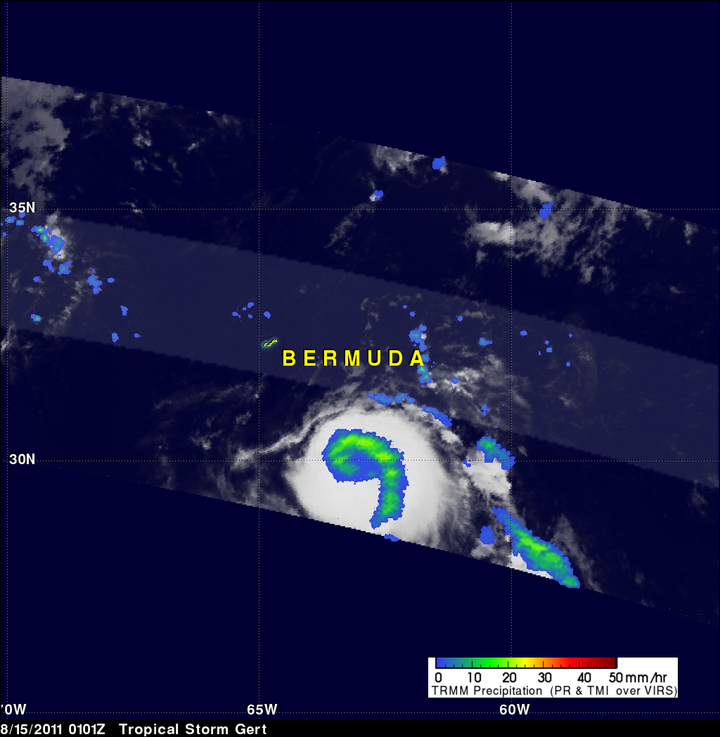 TRMM image of Gert