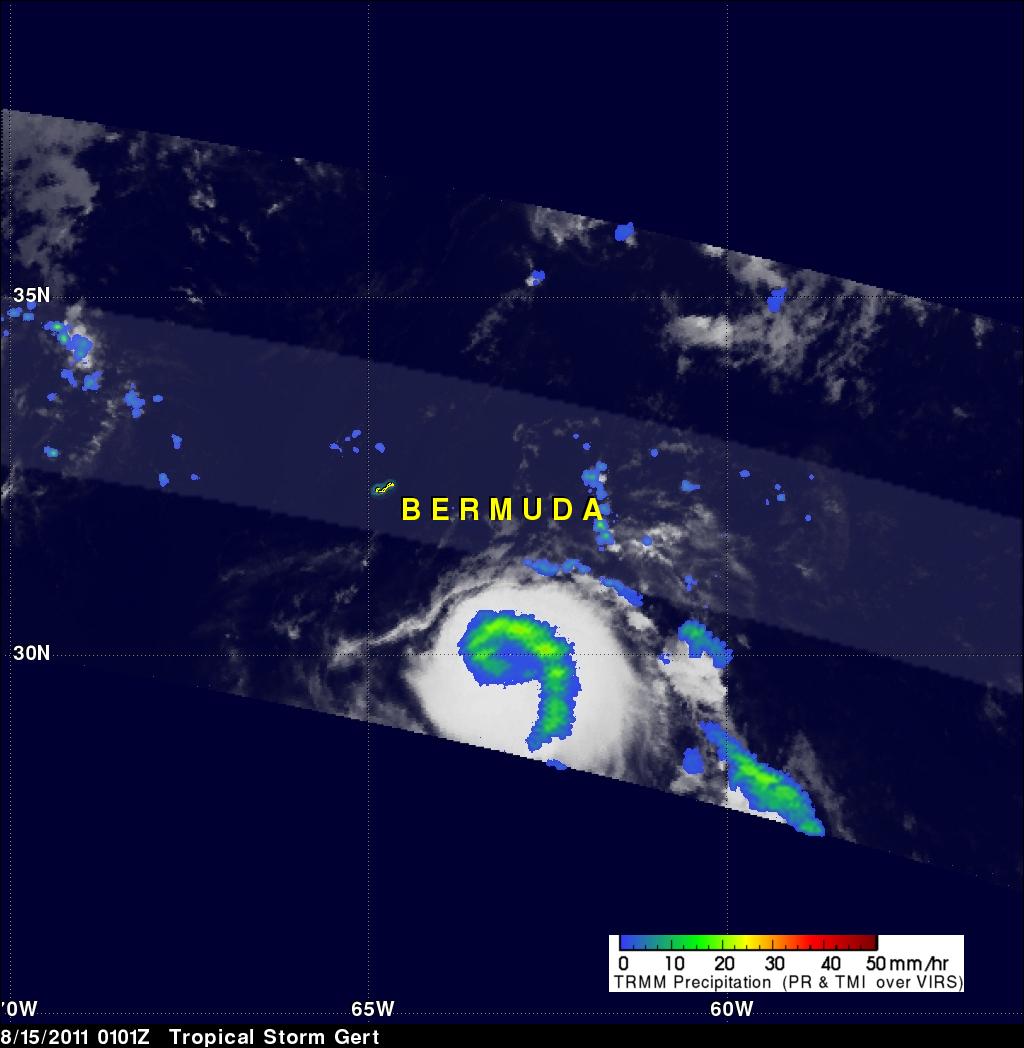 TRMM image of Gert