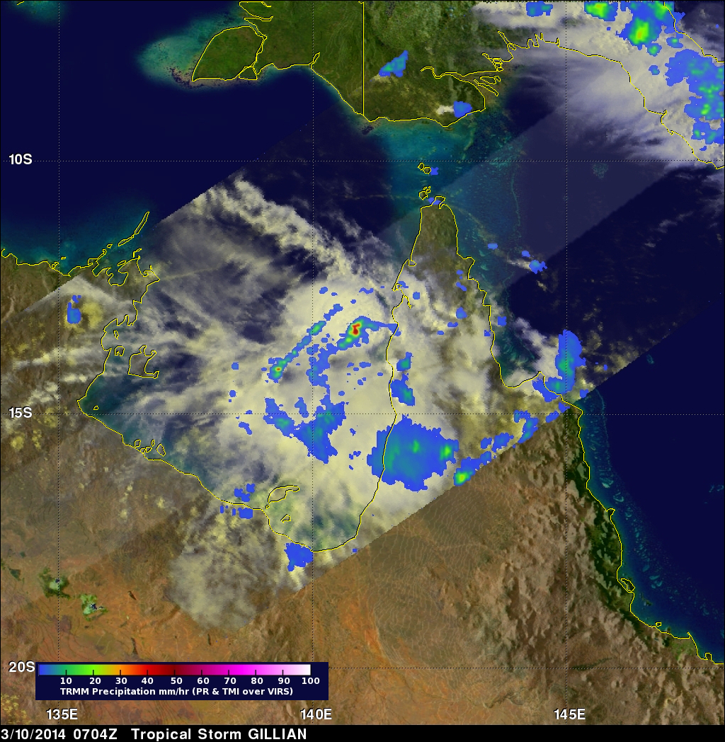 High Level Of Tropical Cyclone Activity South Of The Equator